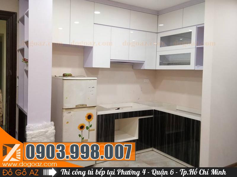 Chuyên thi công đóng tủ bếp gỗ tại Phường 4 khu vực quận 6 Hồ Chí Minh