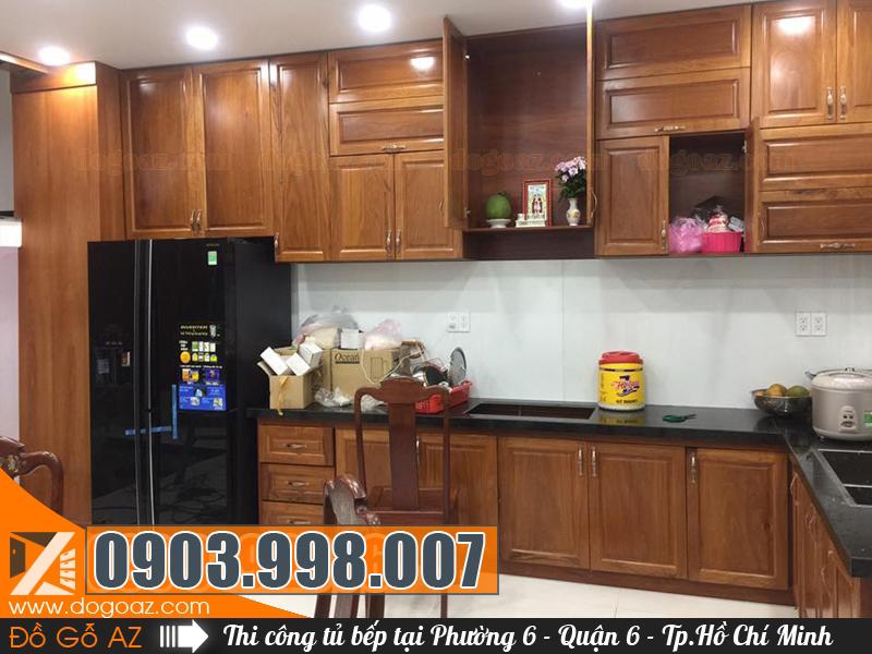 Đóng tủ bếp gỗ Phường 6 Q6 chất lượng đảm bảo và sang trọng