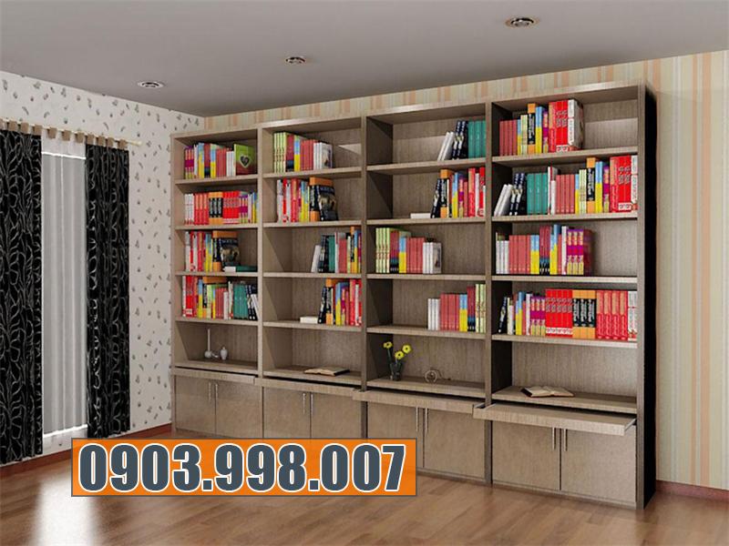 Đóng tủ kệ sách đẹp, tiện dụng tại tp hcm