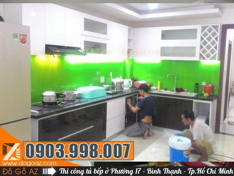 Làm tủ bếp gỗ tại Phường 17 quận Bình Thạnh, Hồ Chí Minh