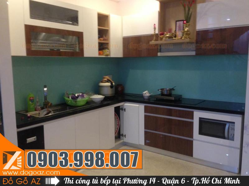 Ở đâu làm tủ bếp Quận 6 TPHCM, Tủ bếp Phường 14 Q6 giá rẻ?