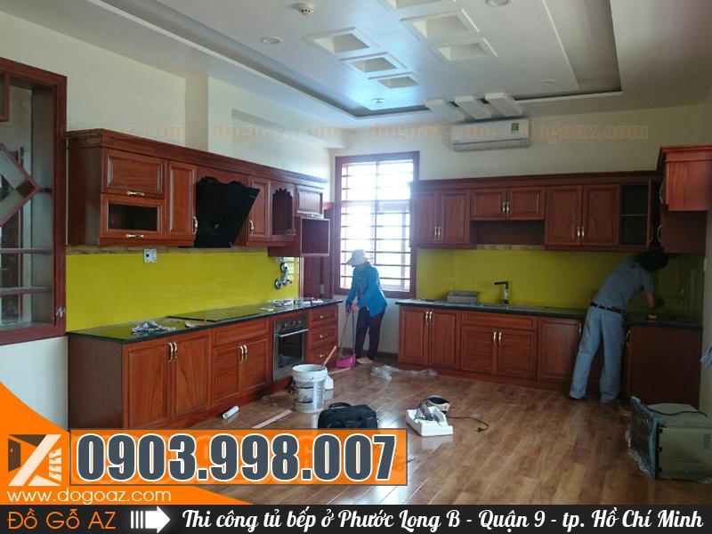 Tham khảo đóng tủ bếp ở Phước Long B Q9 - TPHCM
