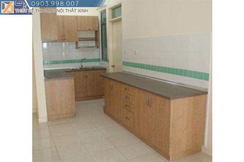 Thi công hoàn thiện tủ bếp gỗ veneer giá rẻ tại TpHCM
