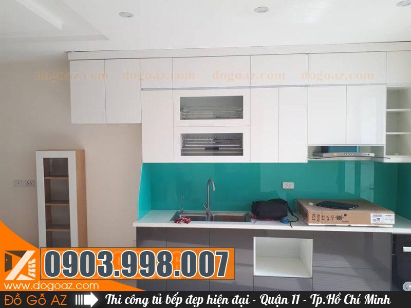 Thi công thiết kế tủ bếp Quận 11 theo yêu cầu hoặc không gian bếp