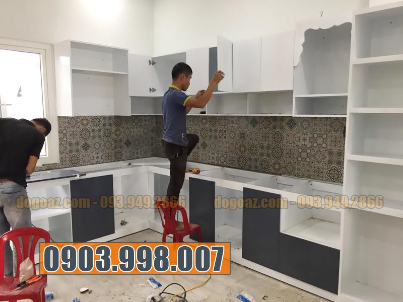 Thi công tủ bếp tại Hồ Chí Minh, xưởng tủ bếp gỗ 2018 HCM