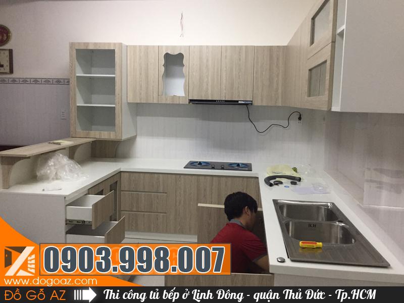 Thi công và thiết kế tủ bếp Linh Đông quận Thủ Đức