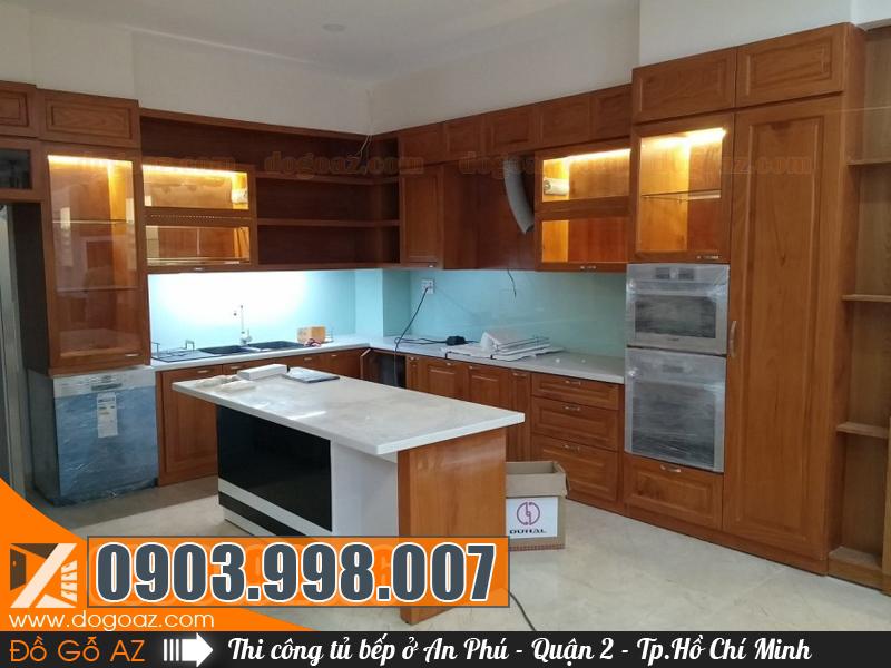Thiết kế thi công đóng tủ bếp tại An Phú Quận 2 - HCM