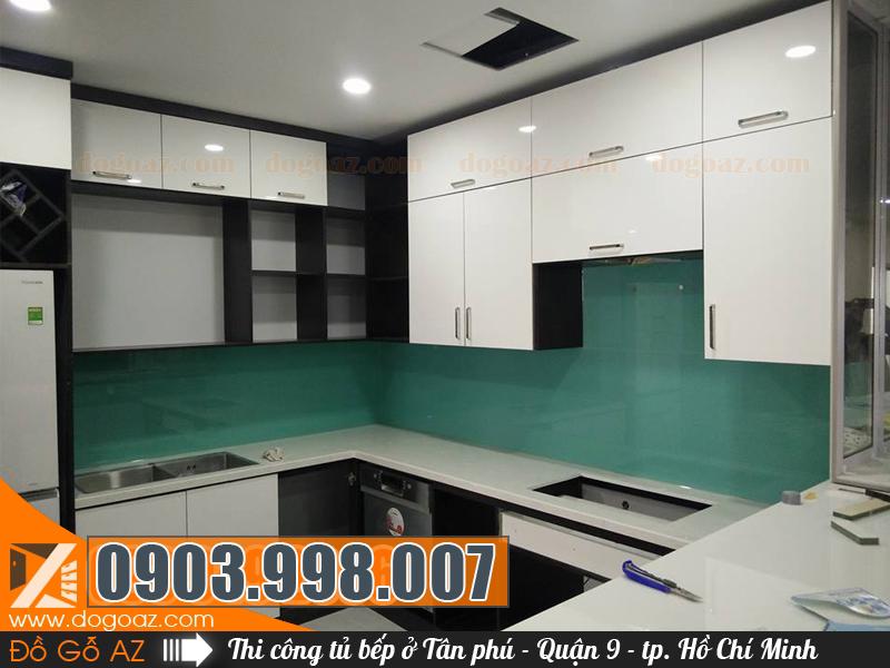 Thiết kế thi công tủ bếp gỗ Tân Phú ở Quận 9 HCM