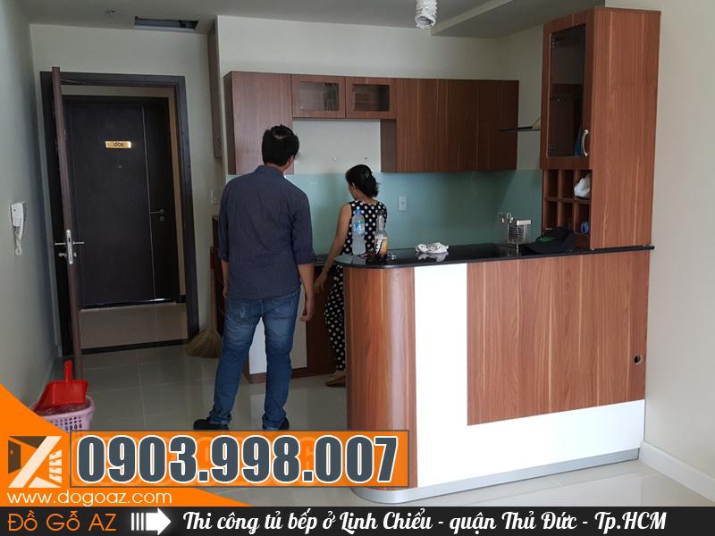 Thiết kế và thi công tủ bếp đẹp tại Linh Chiểu quận Thủ Đức