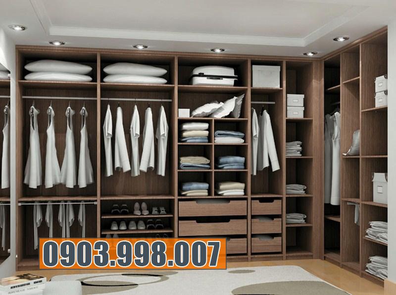 Tủ áo âm tường đẹp giúp tiết kiệm không gian cho phòng ngủ.