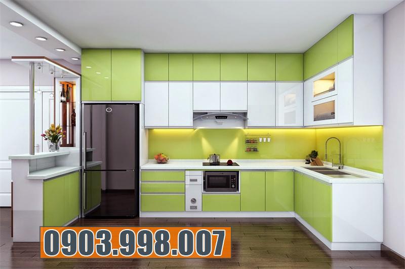 Tủ bếp Acrylic An Cường đẹp và chất lượng