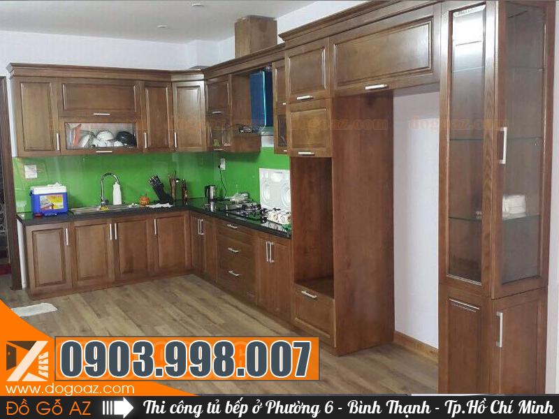Tủ bếp Phường 6 Q.BT - Thi công nội thất tủ bếp Bình Thạnh, HCM