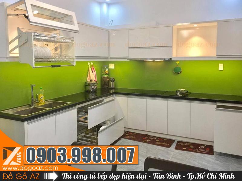 Tủ bếp Tân Bình hiện đại và sang trọng từ cty nội thất TpHCM