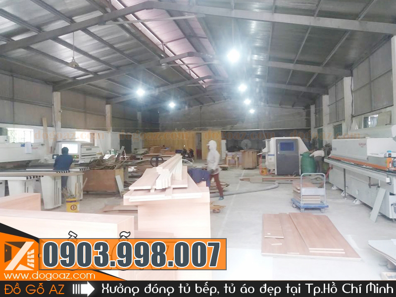 Xưởng đóng tủ áo, tủ quần áo âm tường ở TpHCM