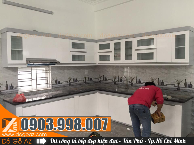 Xưởng đóng tủ bếp Tân Phú tại TpHCM báo giá nhanh và thi công đúng tiến độ